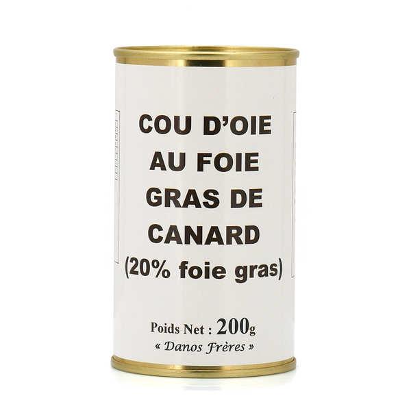 Cou d'oie farci au foie gras de canard