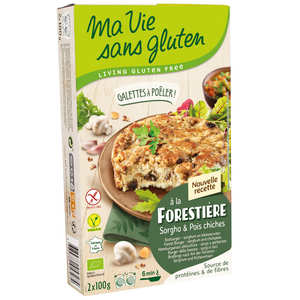 Ma vie sans gluten - Organic Ready to cook mushroom and cheeck peas galette - gluten free