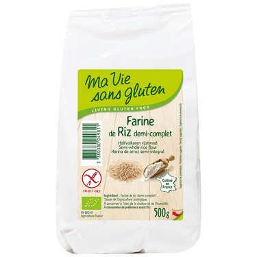 Farine de riz  demi-complète bio garantie sans gluten