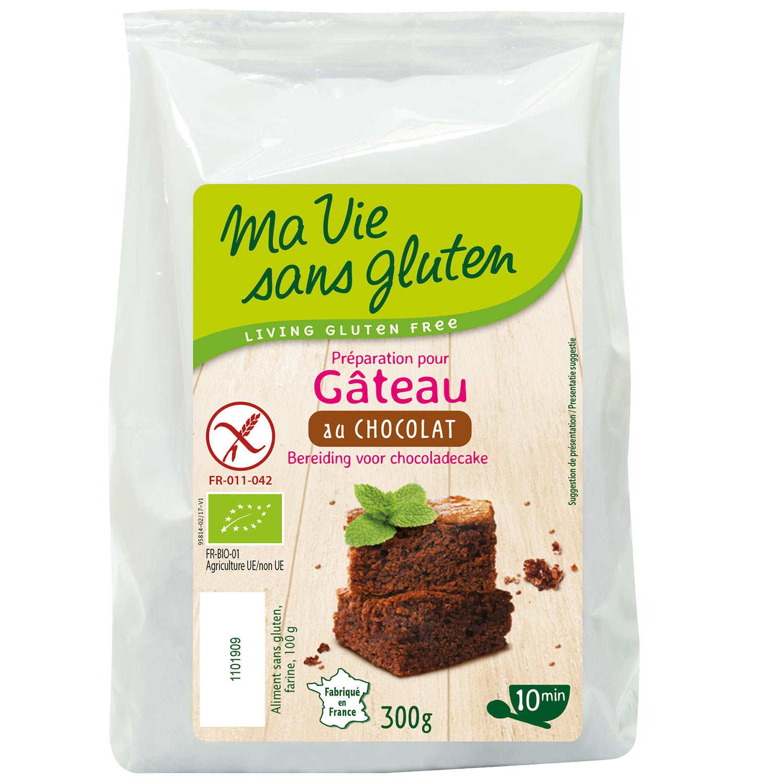 Préparation sans gluten pour gâteau au chocolat bio