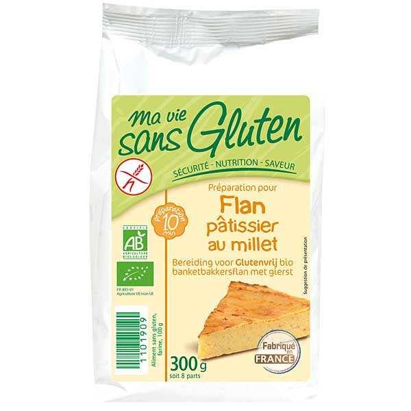 Préparation sans gluten pour flan pâtissier au millet bio