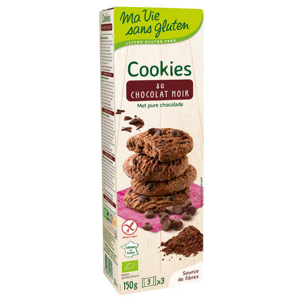Mini cookies au chocolat bio sans gluten