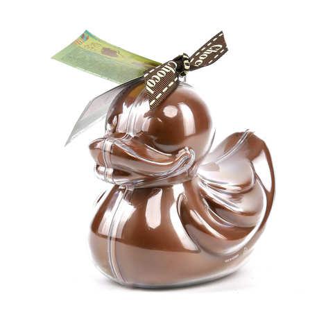 Bovetti chocolats - Bimbi caneton en chocolat au lait et son moule à réutiliser