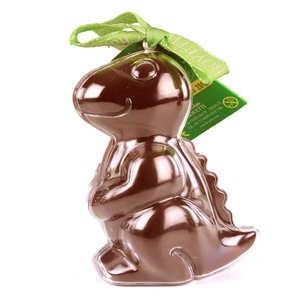 Bovetti chocolats - Bimbi Bio - Dinosaure en chocolat au lait et son moule à réutiliser