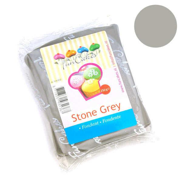 Pâte à sucre grise funcakes - sachet 250g