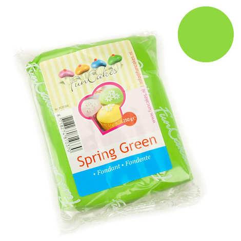 Fun Cakes - Pâte à sucre verte printemps FunCakes