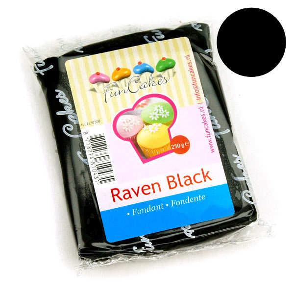Pâte à sucre noire corbeau FunCakes