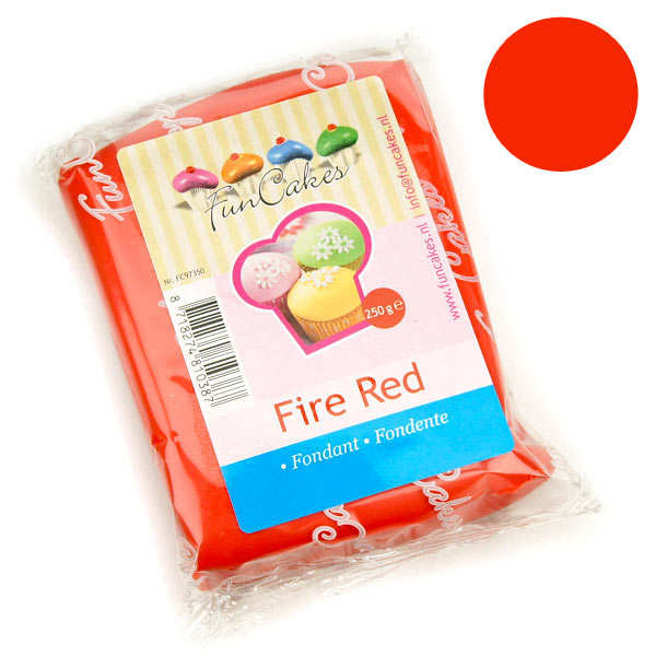 FunCakes ready-roll fire red icing