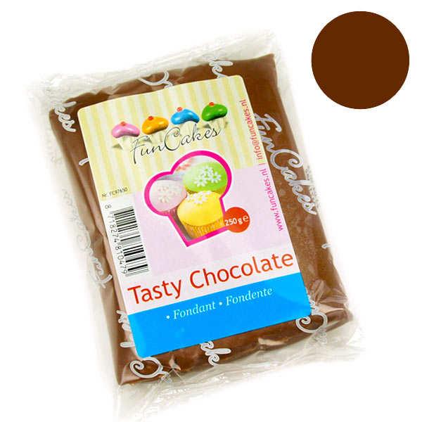 Pâte à sucre au chocolat funcakes - sachet 250g
