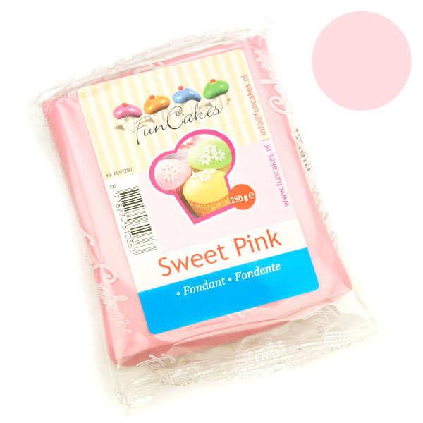 Pâte à sucre rose pastel FunCakes