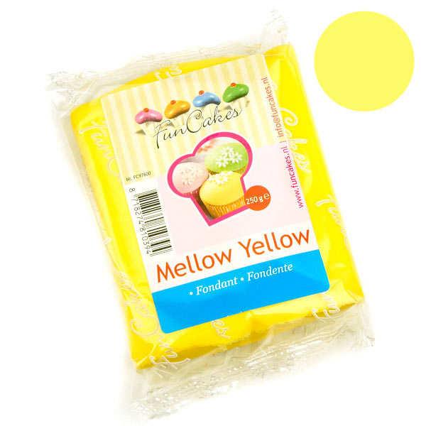 Pâte à sucre jaune funcakes - sachet 250g