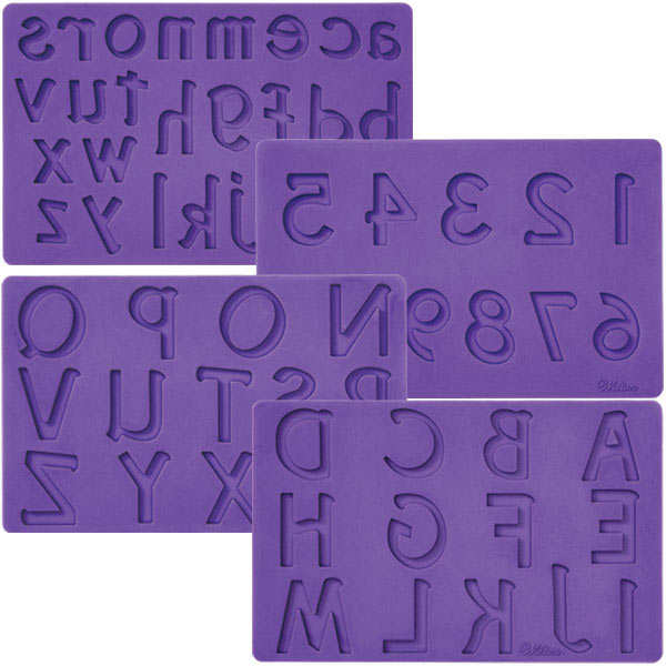 Letters & Numbers Icing Mould