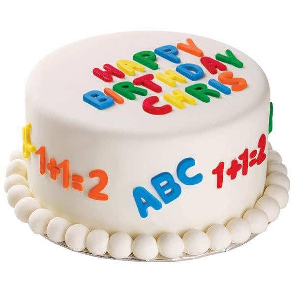 Moule pour pâte à sucre - Alphabet et numéro