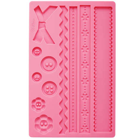 Wilton - Buttons and ribbons mould for icing decorations