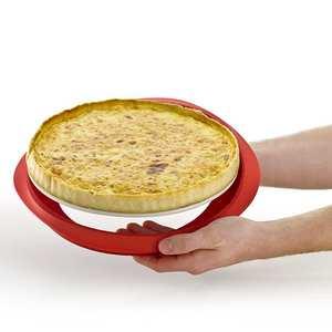 Lékué - Moule à tarte démontable en silicone et céramique Ø 28cm