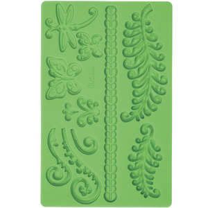 Wilton - Fern and butterfly icing decoration mould