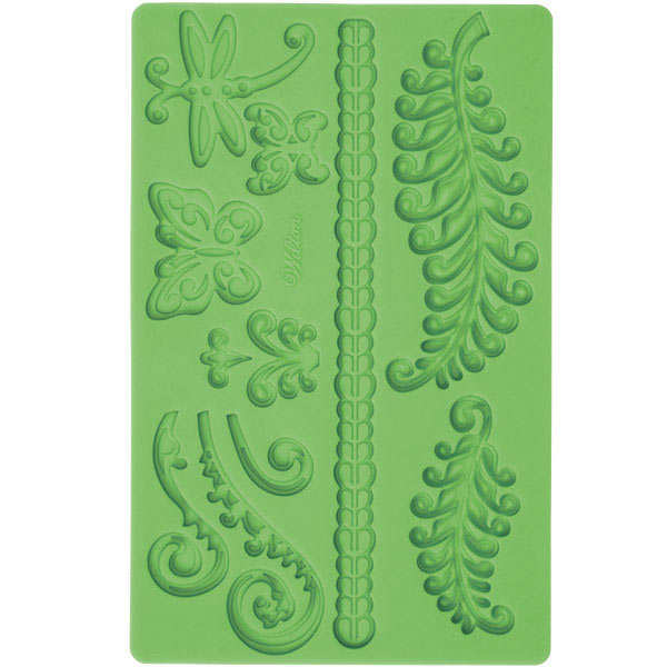 Fern and butterfly icing decoration mould