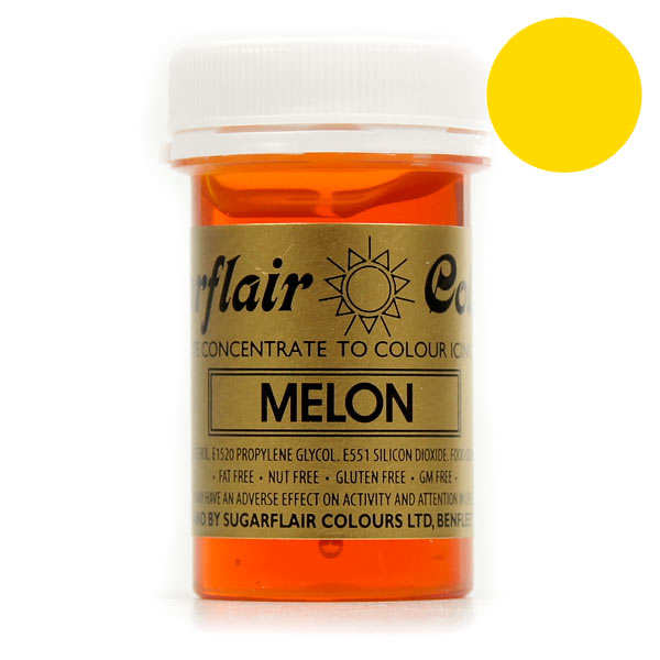 Melon yellow food colouring