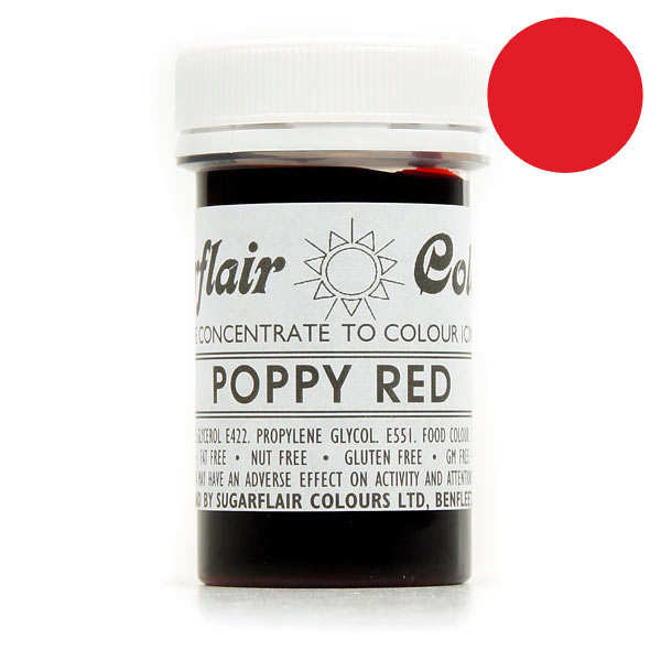 Poppy red food colouring