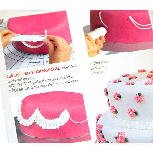 Kit de d coration guirlande p te sucre pour g teau stadter for Pate a sucre decoration
