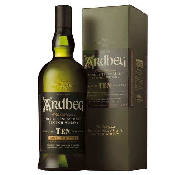 Whisky Ardbeg Ten single malt 10 ans - 46%