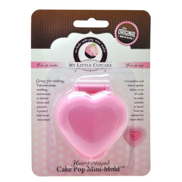 Heart-shaped mould for cake pops