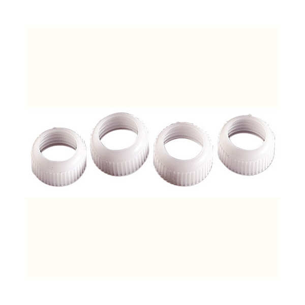 4 coupler rings for Wilton tube icings with standard tips