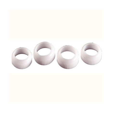 Wilton - 4 coupler rings for Wilton tube icings with standard tips