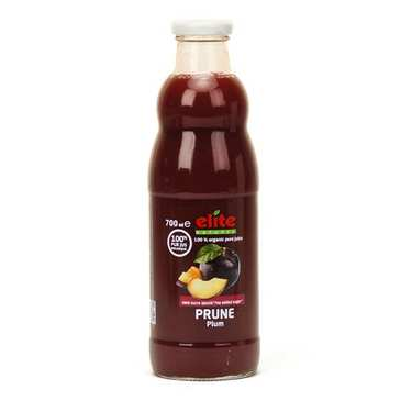 Pure organic plum juice