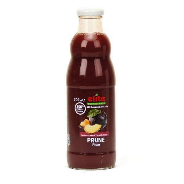 Pure organic plum juice