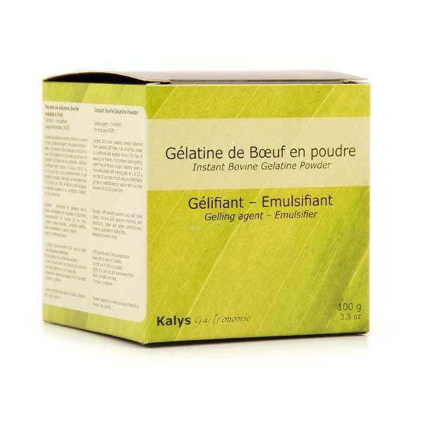 Gelatin in powder for cold use