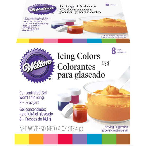 Set de 8 colorants concentrés Wilton