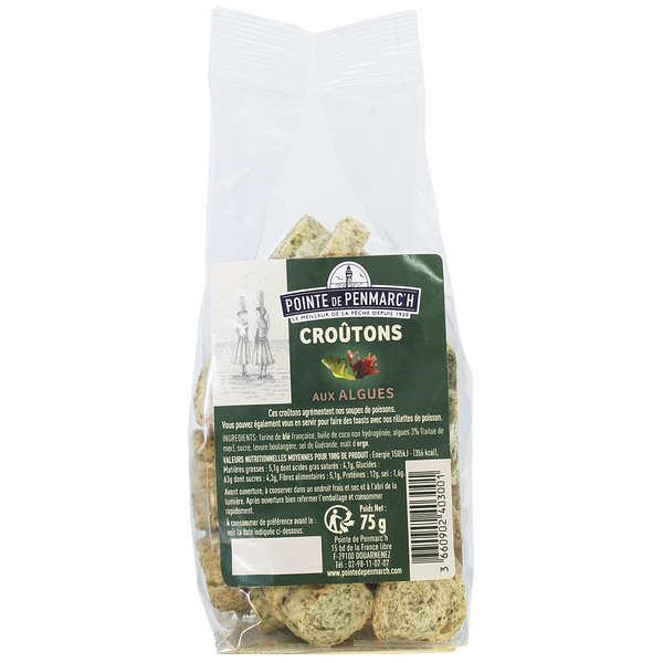 Seaweed flavored croutons
