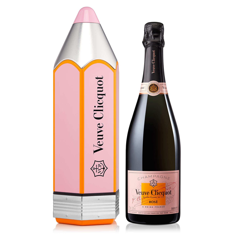 Champagne Veuve Clicquot Ponsardin - Rosé - Boite cadeau Message