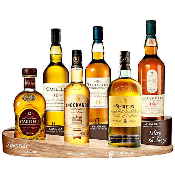 "Classic malts whisky selection - valise ""Du Speyside aux îles"""