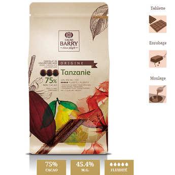 """Cacao Barry - Chocolat de couverture noir """"origine rare"""" Tanzanie- 75% - en pistoles"""