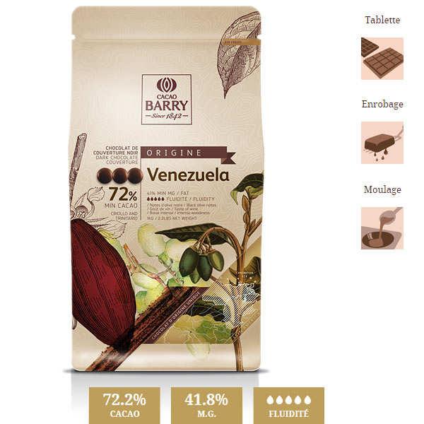 "Chocolat de couverture ""origine rare"" Venezuela- 72% - pistoles"