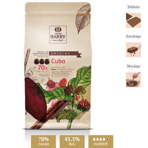 Cacao Barry - Dark chocolate couverture Cuba 70%