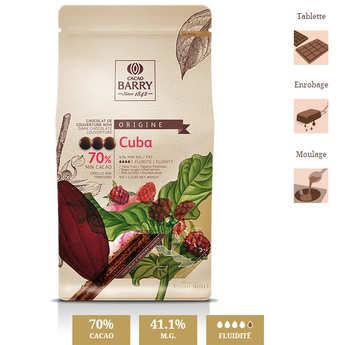 """Cacao Barry - Chocolat de couverture noir """"origine rare"""" Cuba- 70% - en pistoles"""