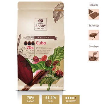 Cacao Barry - Dark chocolate couverture Cuba 70%