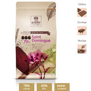Cacao Barry - Dark chocolate couverture Santo Domingo - 70%
