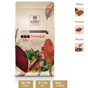 """Cacao Barry - Chocolat de couverture noir """"origine rare"""" Mexique - 66% - en pistoles"""