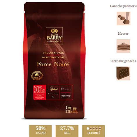 Cacao Barry - Chocolat noir  Force noir - 50% - en pistoles