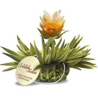 Creano - Fleurs de thé avec ficelle Tealini Perle de citron