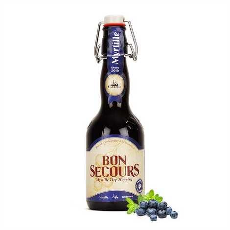 Brasserie Caulier - Bon Secours myrtille - Bière belge aromatisée - 6,4%