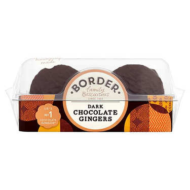 Border Dark Chocolate Ginger Biscuits