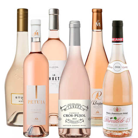 - 6 Assorted Rosés from South of France