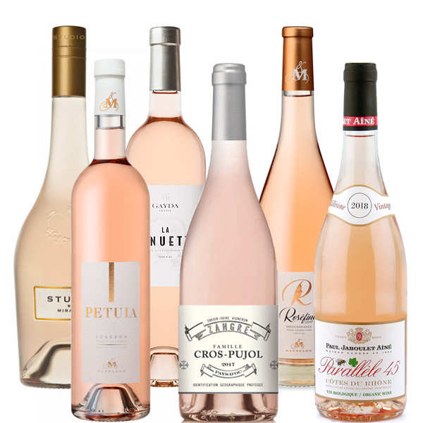 6 Assorted Rosés from South of France