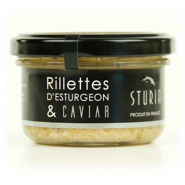 Rillettes d'esturgeon et caviar