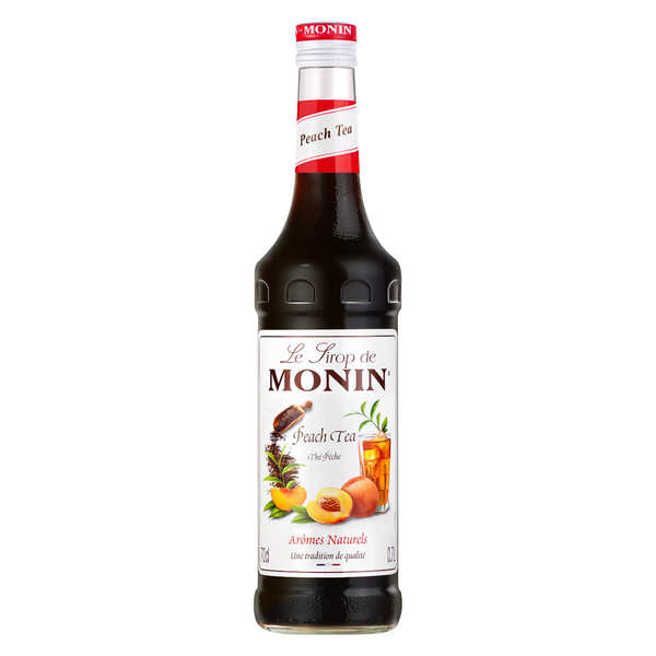 Peach tea syrup concentrate Monin